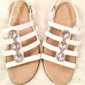Aerosoles Women's Size 8 white diamond sandals